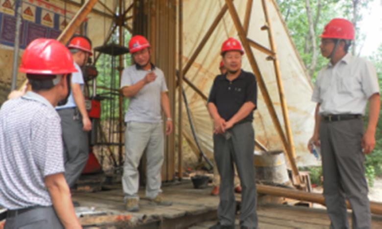 于广陵副局长赴八一五队龙潭头项目检查安全生产工作